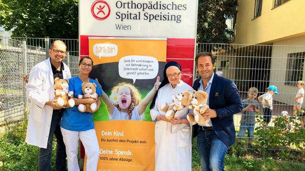 Wunderbare Spendenaktion vom Orthopädischen Spital Speising!