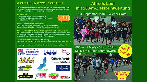 Der Alfreds Lauf 2018 unterstützt DANK DIR