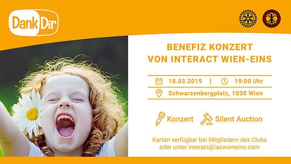 ♫ Benefizkonzert 2019 IAC Wien-Eins Für Dank Dir! am 18.März 2019