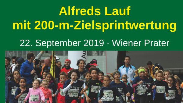 Alfredslauf 2019 unterstützt wieder Dank Dir !