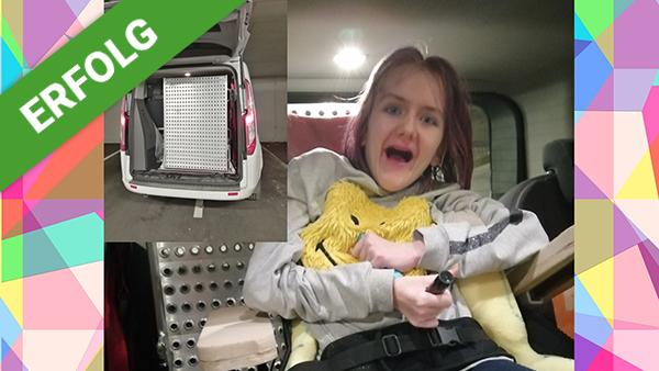 Dank Dir freut sich Felicitas über eine Rollstuhl-Rampe ...