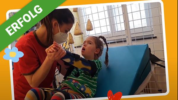 Ein unglaublicher Schritt für Marie dank Eurer Spenden.