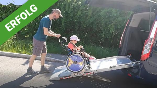 Dank Dir war es nun möglich, eine Rollstuhlrampe für das Auto anzuschaffen