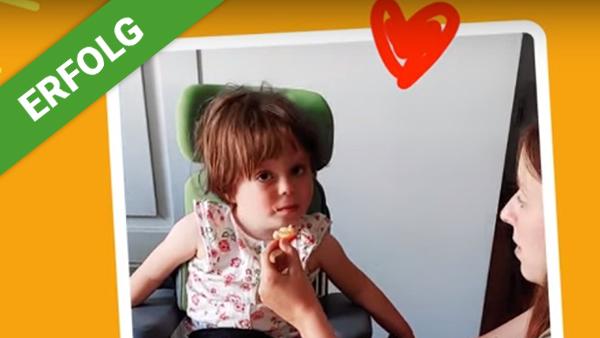 DANK DIR freut sich Flora über eine No-Tube Therapie